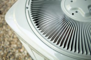 top view of the outside unit of an air conditioner
