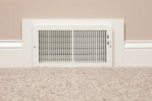 hvac vent on floor inside home